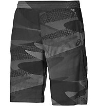 Asics Tech Graphic Short Herren kurze Fitnesshose, Black