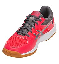 Asics Upcourt 3 GS Girl - scarpe da pallavolo - bambina, Pink/Grey