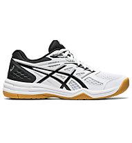 Asics Upcourt 4 - scarpe pallavolo - donna, White/Black