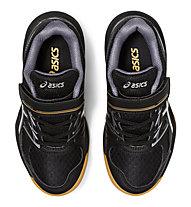 Asics Upcourt 4 PS - scarpe pallavolo - bambini, Black/White