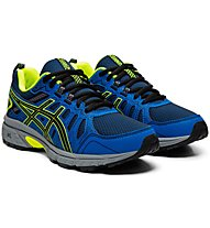 Asics Venture 7 GS - Trailrunningschuhe - Kinder, Blue/Yellow