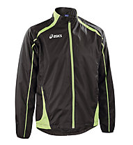 Asics Windbreaker Colin Runningjacke, Black/Light Green
