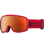 Atomic Count Jr Spherical - Skibrille, Red/Dark Red