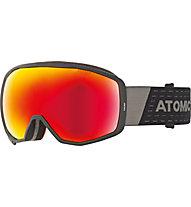Atomic Count Stereo - maschera sci alpino, Black