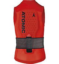 Atomic Live Shield Vest JR - gilet protettivo - bambino, Red