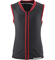 Atomic Live Shield Vest JR Kinder Schutzweste Rückenprotektor, Black/Red