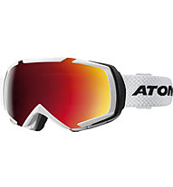 Atomic Revel Racing - maschera da sci, White/Black
