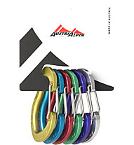 AustriAlpin Micro Color Set 6 pezzi - set moschettoni, Multicolor