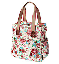 Basil Bloom Shopper Fahrradtasche, White/Red