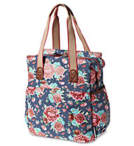Basil Bloom Shopper, Indigo Blue/Pink