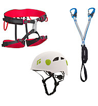 Beal Kit composto da imbrago + set via ferrata + casco