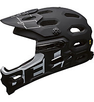 Bell Super 3R Mips - casco MTB, Matte Black White Semplif.