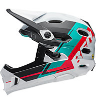 Bell Super DH - Fahrradhelm Fullface, White/Black/Red