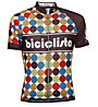 Biciclista 70's Power Radtrikot, Brown/Pois