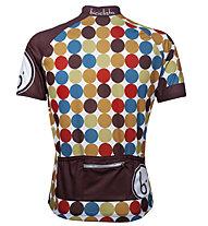 Biciclista 70's Power Radtrikot, Brown/Pois