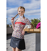 Biciclista Biancaneve Schneewittchen - Radtrikot - Damen, White/Red