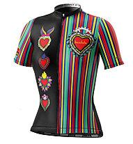 Biciclista Clubbin Corazon - maglia bici - donna, Black