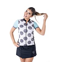 Biciclista Clubbin Woman Les Ciclistes - Radtrikot - Damen, White/Light Blue