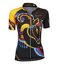 Biciclista Crazy Horse Damen-Radtrikot, Brown/Yellow