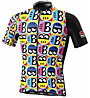 Biciclista Helmetto - Radtrikot - Herren, Black/White/Yellow/Blue