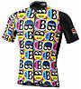 Biciclista Helmetto - maglia bici - uomo, Black/White/Yellow/Blue