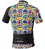Biciclista Helmetto - Radtrikot - Herren, Black/White/Yellow/Blue
