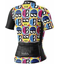 Biciclista Helmetto - Radtrikot - Damen, Black/White/Yellow/Blue