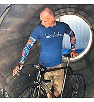 Biciclista Koi - manicotti bici, Blue