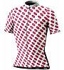 Biciclista Lipstick - maglia bici - donna, White/Pink