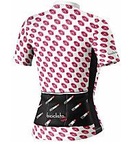 Biciclista Lipstick - Radtrikot - Damen, White/Pink