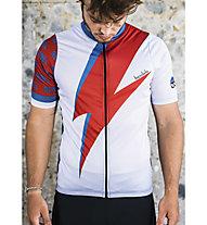 Biciclista Rebel - Radtrikot - Herren, White/Red/Blue