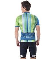 Biciclista Clubbin Man Sunday Best - Radtrikot - Herren, Light Blue/Green