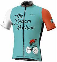 Biciclista The Dream Machine - Radtrikot - Herren, Light Blue/Orange/White