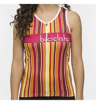 Biciclista Warmstripe - top bici - donna, Yellow/Red