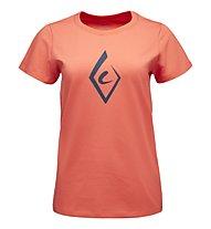 Black Diamond Brushstroke - T-shirt arrampicata - donna, Red