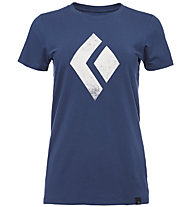 Black Diamond Chalked Up - Damen-T-Shirt, Blue