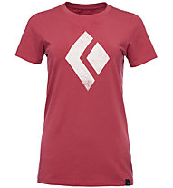 Black Diamond Chalked Up - Damen-T-Shirt, Red