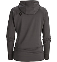 Black Diamond Dawn Wall Hoody Damen, Slate