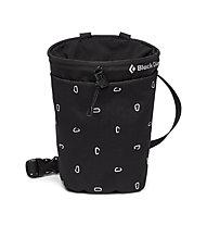 Black Diamond Gym Chalk Bag - portamagnesite, Black/White