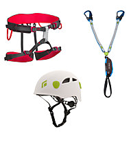 Black Diamond Kit composto da imbrago + set via ferrata + casco