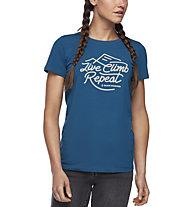 Black Diamond Live Climb Repeat - Damen-T-Shirt, Blue