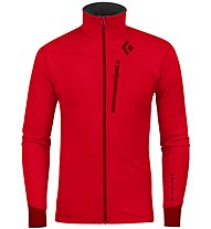 Black Diamond M Coefficient Jacket Herren Fleecejacke, Red