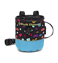 Black Diamond Mojo Kid's - portamagnesite - bambino, Black/Light Blue