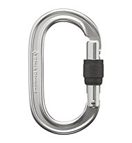 Black Diamond Oval Keylock Screwgate - Karabiner, Silver