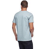 Black Diamond Stacked Logo - T-shirt - uomo, Light Blue