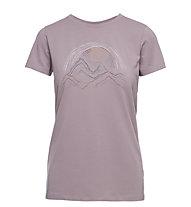 Black Diamond W Summit Scribble - T-shirt - donna, Violet