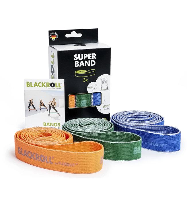 Blackroll Blackroll Super Band Set - elastici fitness, Orange/Green/Blue