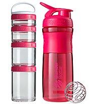 Blender Bottle ComboPak Sportmixer - Set Zubehör Sportnahrung, Pink