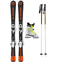 Blizzard Set Firebird Jr 100/110 cm: sci + attacchi + bastoncini + scarponi - bambino