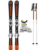 Blizzard Set Firebird Jr 140 cm: Ski + Bindung + Skistöcke + Skischuhe